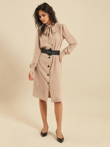 Платье-миди с ремнем - фото 4