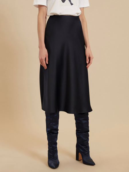Атласная юбка-миди - фото 2