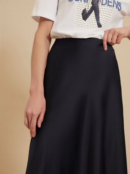 Атласная юбка-миди - фото 3