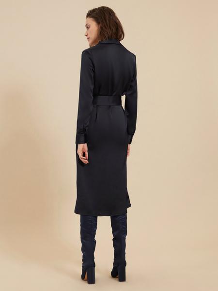 Атласное платье-миди - фото 6