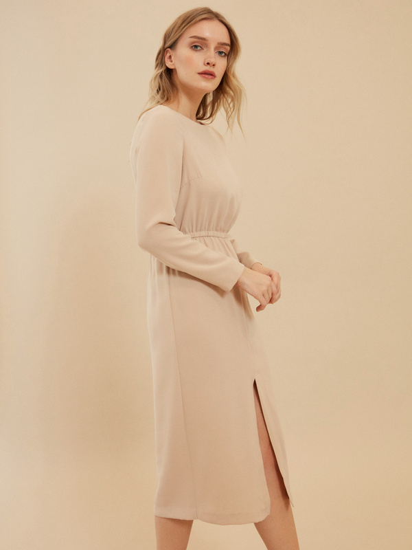 Платье на резинке с разрезом - фото 3