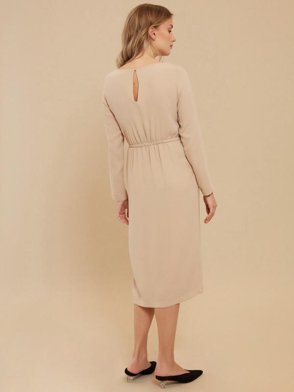 Платье на резинке с разрезом - фото 5