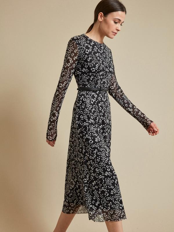 Сетчатое платье-миди на подкладе - фото 2