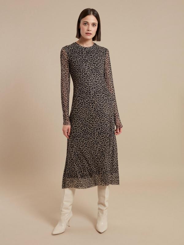 Сетчатое платье-миди на подкладе