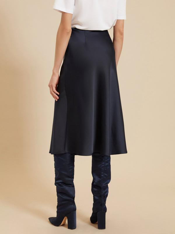 Атласная юбка-миди - фото 4