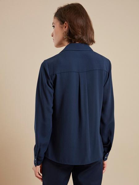 Блузка с V-образным вырезом - фото 4
