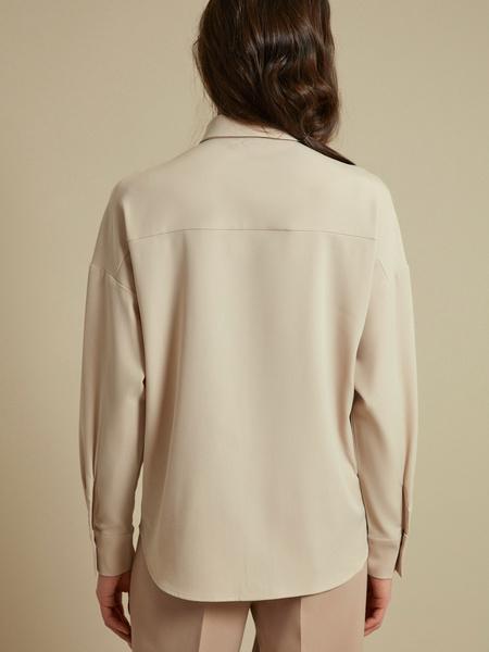 Блузка с накладными карманами - фото 5