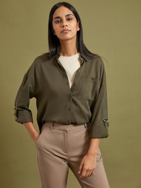 Блузка с рукавами трансформер 100% вискоза - фото 1