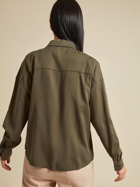 Блузка с рукавами трансформер 100% вискоза - фото 4