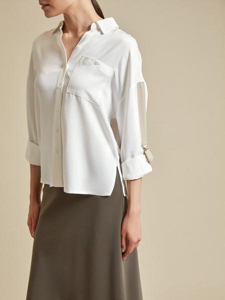 Блузка с рукавами трансформер 100% вискоза - фото 3