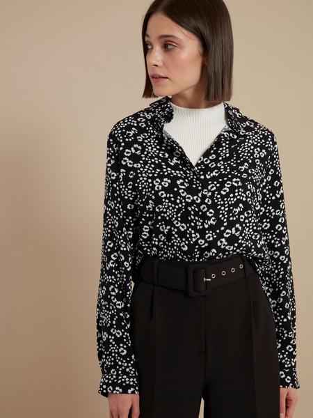 Блузка с цветочным принтом - фото 1