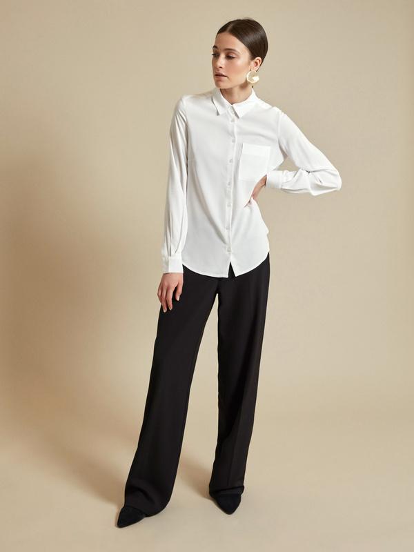 Блузка с ассиметричным низом 100 % вискоза