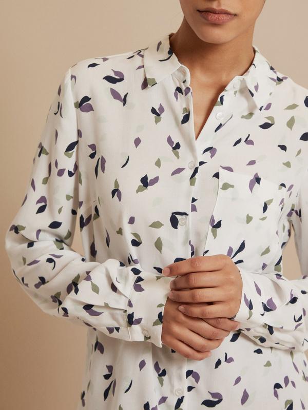 Блузка с ассиметричным низом 100 % вискоза - фото 2