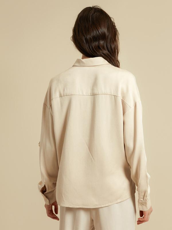 Блузка с рукавами трансформер 100% вискоза - фото 6