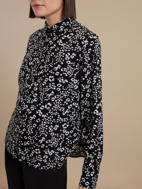 Блузка с цветочным принтом - фото 3