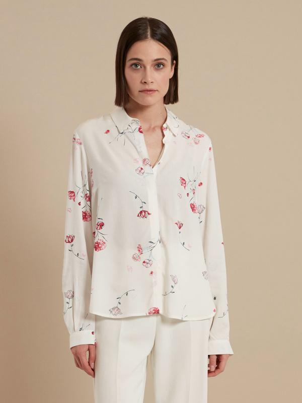 Блузка с цветочным принтом - фото 4
