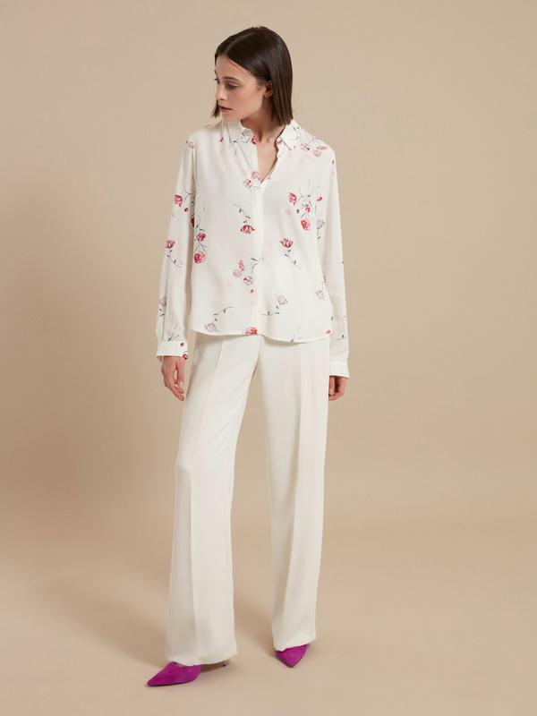 Блузка с цветочным принтом - фото 5