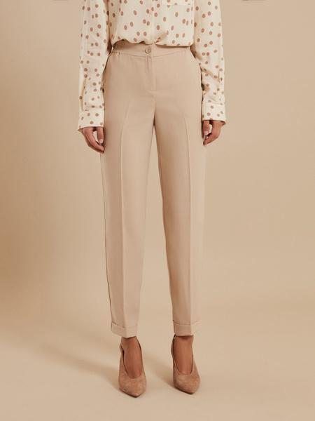 Зауженные брюки с эластичным ремнем - фото 2