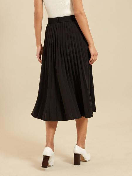 Плиссированная юбка-миди с ремнем - фото 4