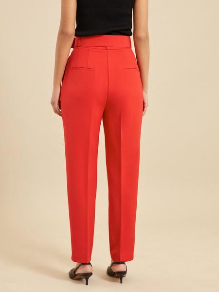 Зауженные брюки с ремнем - фото 4