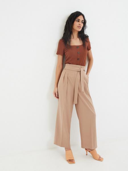 Широкие брюки с поясом