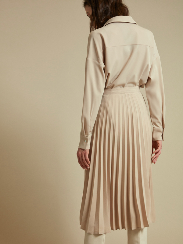 Плиссированная юбка-миди на пуговицах - фото 5