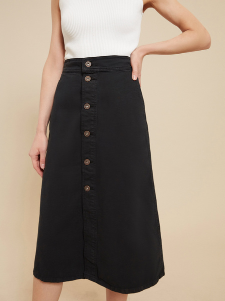 Джинсовая юбка-миди на пуговицах - фото 2