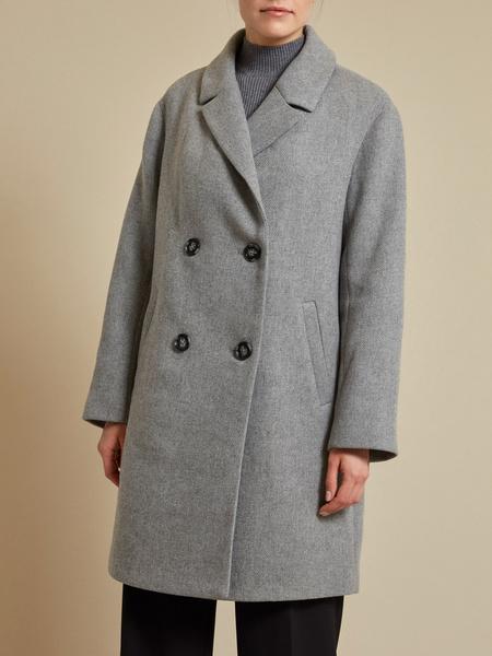 Двубортное пальто - фото 2