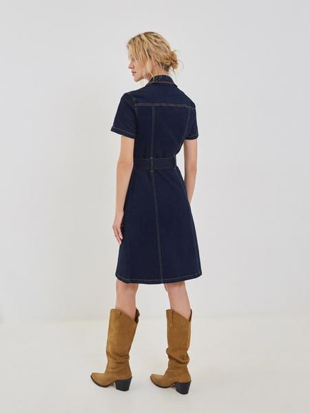Платье-миди из хлопка - фото 4
