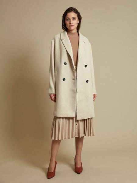 Двубортное пальто с карманами - фото 3