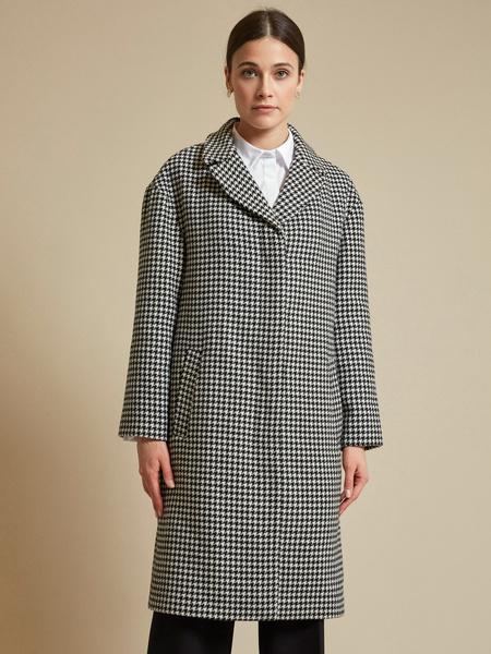 Пальто с принтом гусиная лапка - фото 2