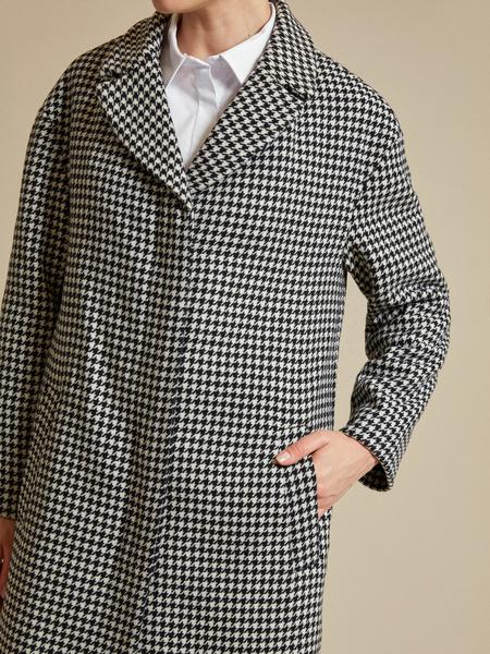 Пальто с принтом гусиная лапка - фото 3