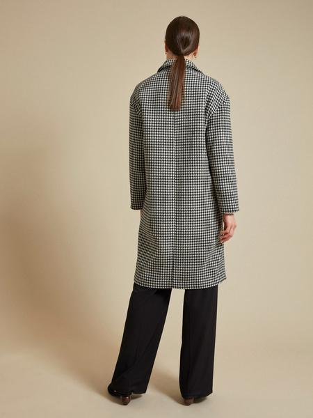 Пальто с принтом гусиная лапка - фото 4