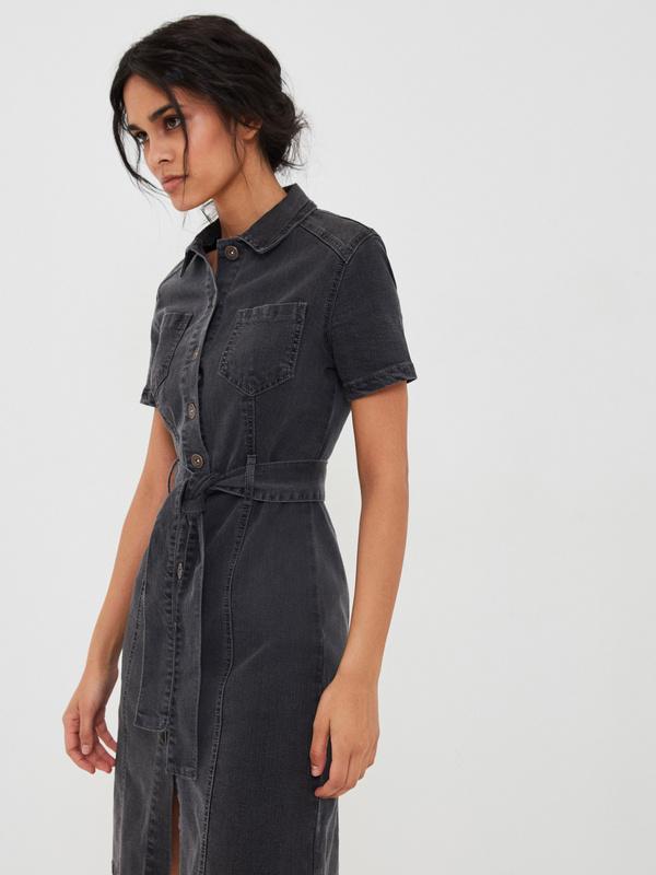 Платье-миди из хлопка - фото 2