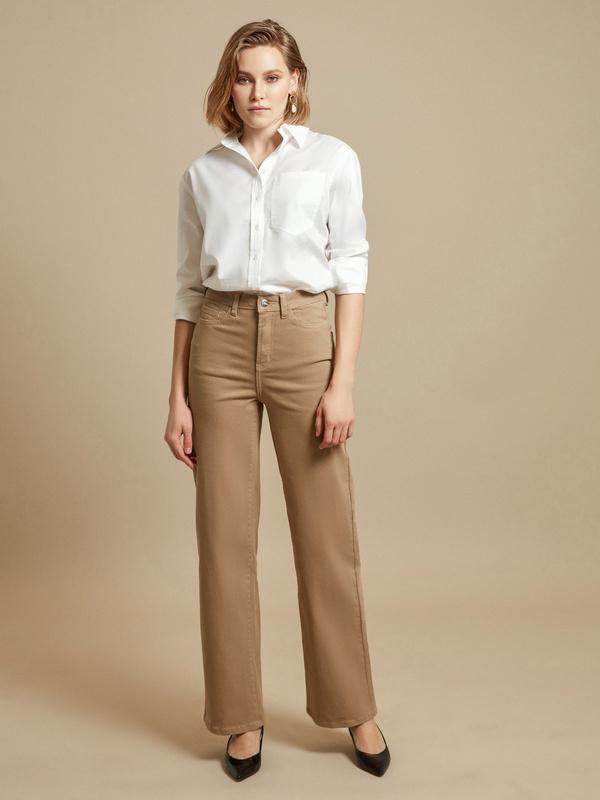 Расклешенные джинсы wide leg - фото 1