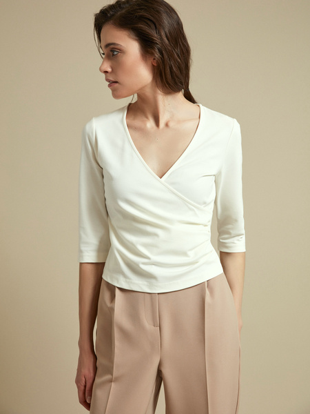 Облегающая блузка с рукавами 3/4 - фото 1