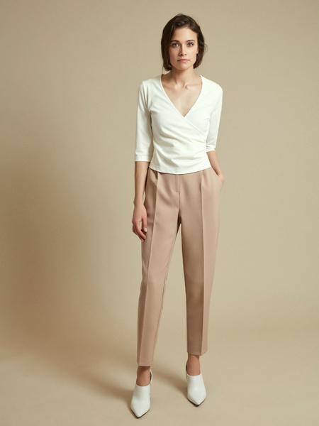 Облегающая блузка с рукавами 3/4 - фото 5