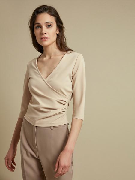 Облегающая блузка с рукавами 3/4 - фото 2
