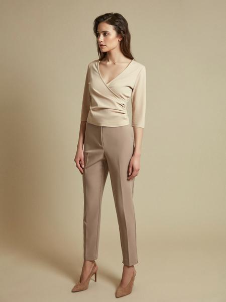Облегающая блузка с рукавами 3/4 - фото 4