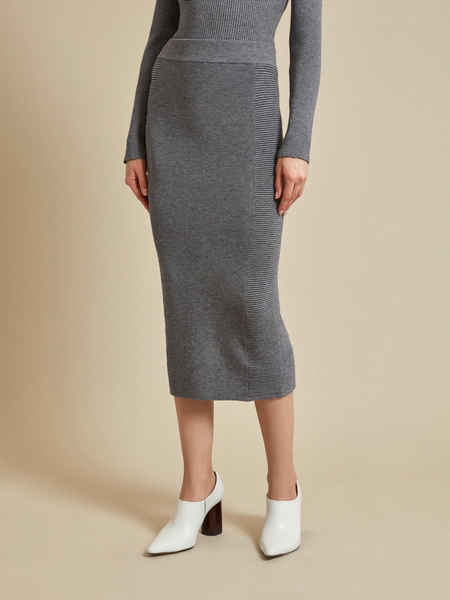 Облегающая трикотажная юбка-миди - фото 2