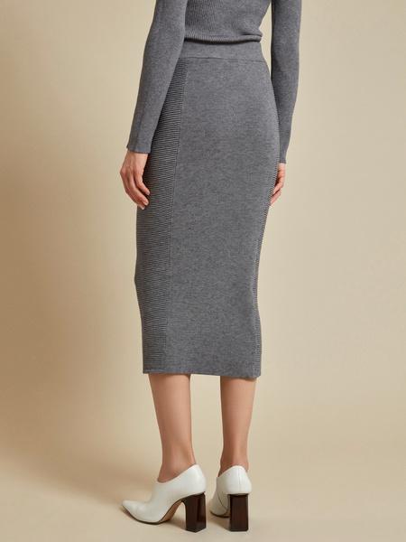 Облегающая трикотажная юбка-миди - фото 4