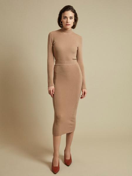 Облегающая трикотажная юбка-миди