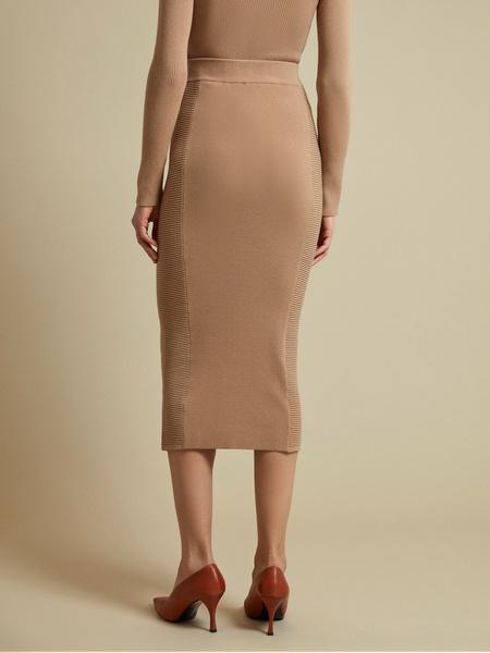 Облегающая трикотажная юбка-миди - фото 3