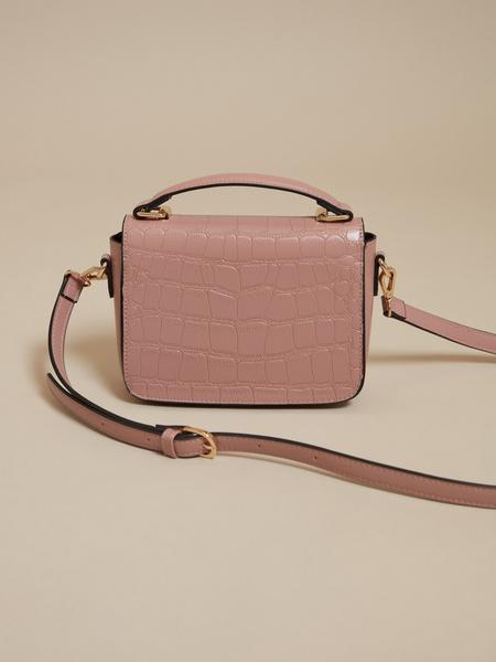 Мини-сумка с текстильным ремнем - фото 4