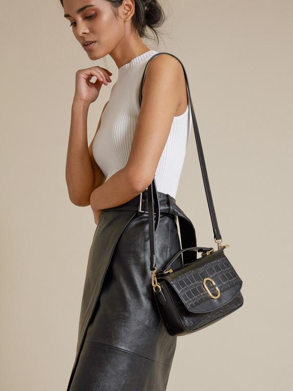 Мини-сумка с текстильным ремнем