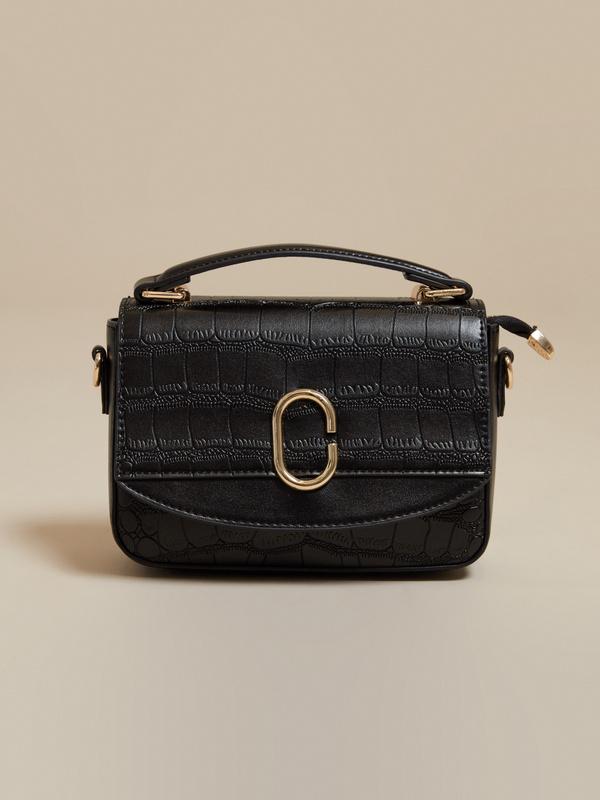 Мини-сумка с текстильным ремнем - фото 2