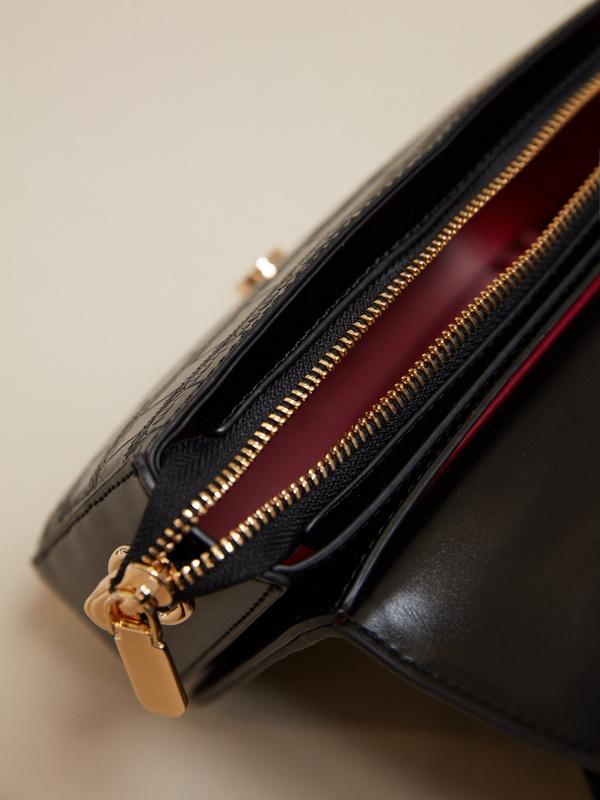 Мини-сумка с текстильным ремнем - фото 3