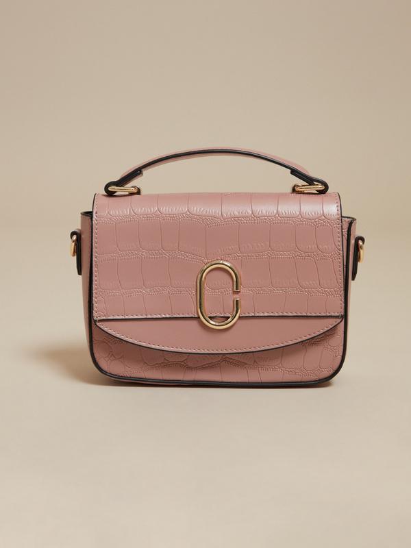 Мини-сумка с текстильным ремнем - фото 1