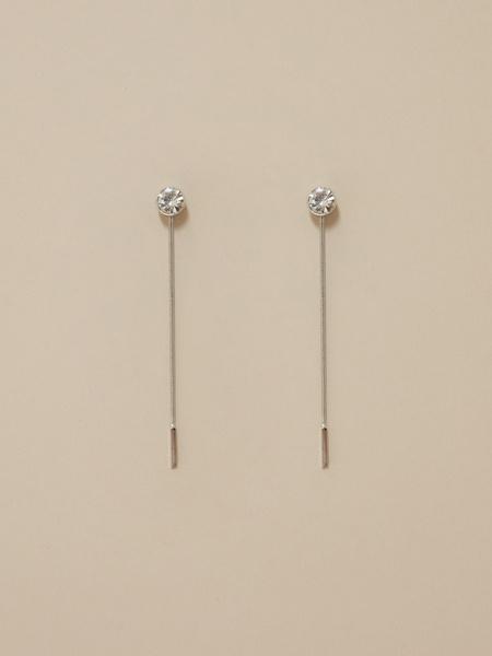 Комбинированные серьги с цепочками