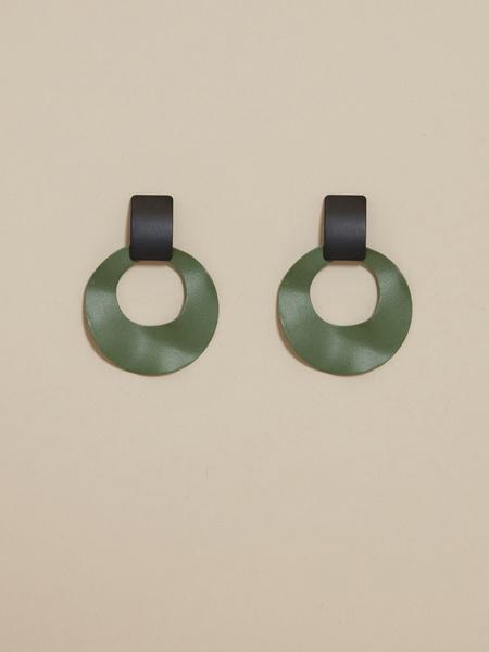 Геометричные серьги колор блок